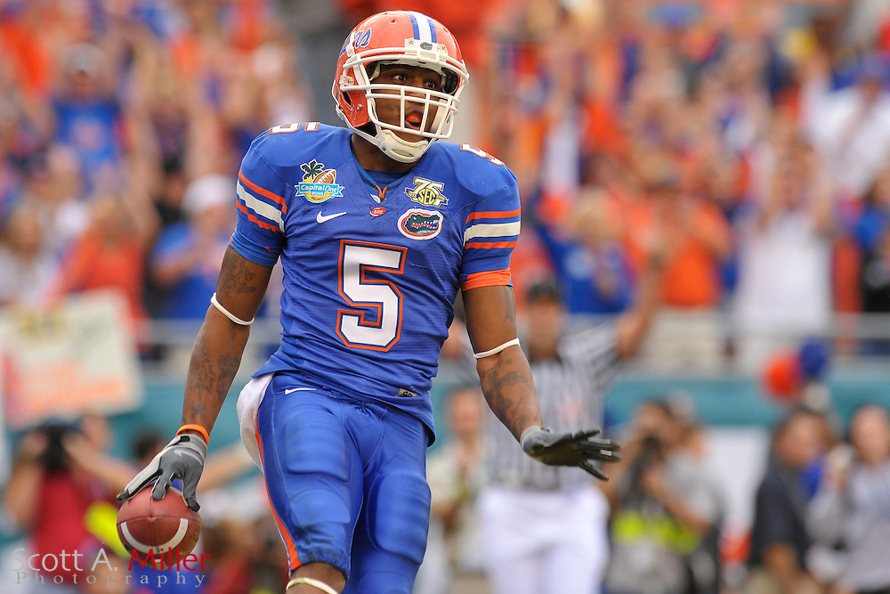 Jan. 1, 2008; Orlando, FL, USA; Florida Gators wide receiver Andre Caldwell (5) during the Gators 41-35 loss to the Michigan Wolverines in the Capital One Bowl at the Citrus Bowl...©2008 Scott A. Miller