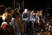 The Catalan party Together for Yes (Junts x Si) that claims for Catalonia's Independence wins the elections with majority, although the mandate is uncertain. First candidate of Together for Yes, Raül Romeva, celebrates the results of the elections. The party has won 62 seats.