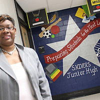 RAY VAN DUSEN/BUY AT PHOTOS.MONROECOUNTYJOURNAL.COM<br /> Karen Howard recently was named as principal of Belle-Shivers Middle School. She comes to the post after serving as an academic coach and algebra teacher in the district.
