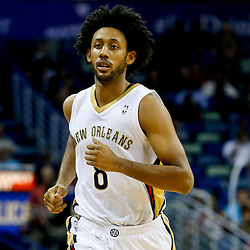 Nov 16, 2013; New Orleans, LA, USA; New Orleans Pelicans small forward Josh Childress (8) against the Philadelphia 76ers during the second half of a game at New Orleans Arena. The Pelicans defeated the 76ers 135-98. Mandatory Credit: Derick E. Hingle-USA TODAY Sports