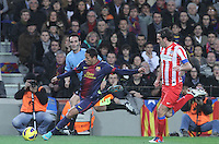 16.12.2012. Barcelona, Spain. La Liga day 16. Picture show Adriano and Arda in action during game FC Bracelona against Atletico Madrid at Camp Nou
