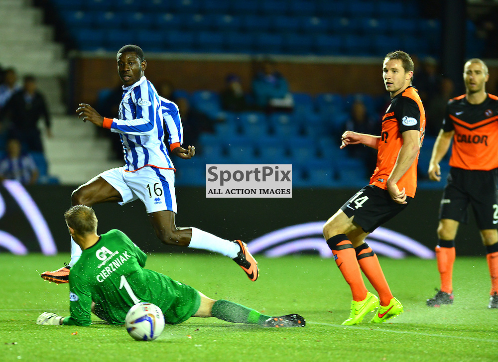 Tope Obadeyi scores Killie's opener against United (c) BILLY WHITE | SportPix.org.uk
