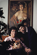 (1992) David Vasquez and his mother Imelda Shapiro at home in Manassas, Virginia. Vasquez served 5 years in prison for rape/murder until the real murderer was found with DNA fingerprinting. MODEL RELEASED.