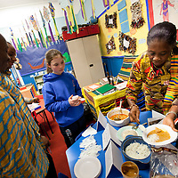 Picture Shows : .Muthill Primary School, Muthill by Crieff, Perthshire, Scotland stage an evening of international cooking to celebrate their joint work with a partner school Juliet Johnson School, Ghana which is visiting this week. They have strong links with the Ghanians and have helped to raise money to contribute toward funding a new school bus.   Feature for TESS..Picture Drew Farrell Tel : 07721-735041