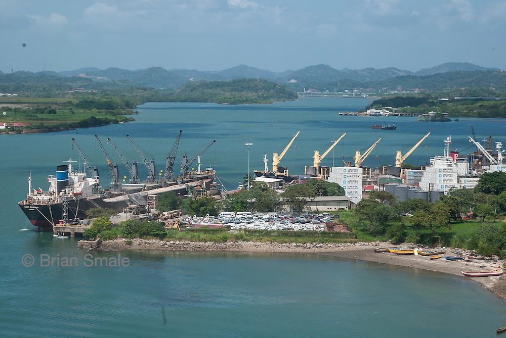 View from the Bridge of the Americas, Panama City, Panama