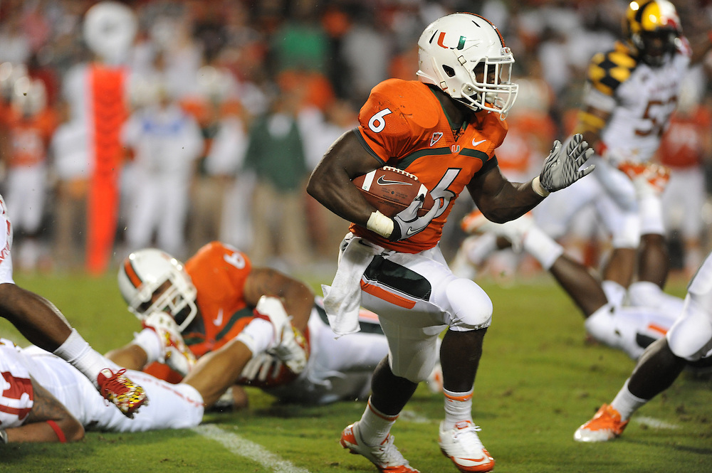 2011 Miami Hurricanes Football @ Maryland<br /> <br /> Lamar Miller
