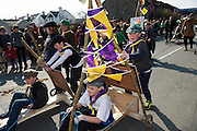 17/03/12016 Kinvara Cub Troup at the the St. Patrick's Day Parade in Kinvara Co. Galway. Photo:Andrew Downes, xposure.