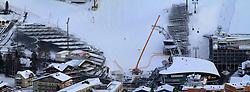 12.12.2012, Schladming, AUT, FIS Weltmeisterschaften Ski Alpin, Schladming 2013, Vorberichte, im Bild das WM-Zielstadion mit Planet Planai, Hohenhaus Tenne, voestalpine skygate und Tribünen am 12.12.2012 // Planai-stadium with Planet Planai, Hohenhaus Tenne, voestalpine skygate and tribunes on 2012/12/12, preview to the FIS Alpine World Ski Championships 2013 at Schladming, Austria on 2012/12/12. EXPA Pictures © 2012, PhotoCredit: EXPA/ Martin Huber