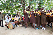 School students put on a play at Mbaem community school, Ghana.