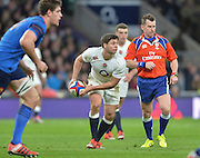 Twickenham, Great Britain, Ben YOUNGS, during the Six Nations Rugby England vs France, played at the RFU Stadium, Twickenham, ENGLAND. <br /> <br /> Saturday   21/03/2015<br /> <br /> [Mandatory Credit; Peter Spurrier/Intersport-images]