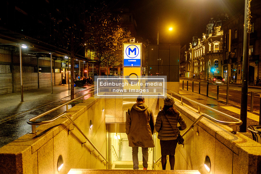 Entrance to the Carmes Metro Station in the Rue du Languedoc, Toulouse, France<br /> <br /> (c) Andrew Wilson | Edinburgh Elite media