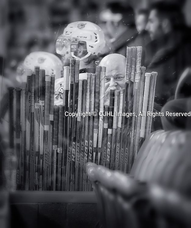 TRENTON, ON  - MAY 4,  2017: Canadian Junior Hockey League, Central Canadian Jr. &quot;A&quot; Championship. The Dudley Hewitt Cup. Around The Dudley Georgetown Raiders Staff <br /> (Photo by Amy Deroche / OJHL Images)