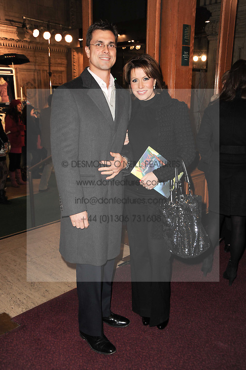 NATASHA KAPLINSKY and her husband JUSTIN BOWER at the gala opening night of Cirque du Soleil's Varekai at the Royal Albert Hall, London on 5th January 2010.