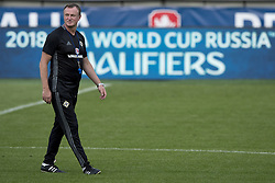 September 3, 2016 - Prague, Czech Republic - Northern Ireland's coach Michael O'Neill attends a training session prior to tomorrow's World Cup group C qualifying soccer match Czech Republic vs. Northern Ireland played in Prague, Czech Republic, September 3, 2016. (Credit Image: © Michal Kamaryt/CTK via ZUMA Press)
