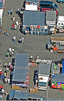 Aerial view of  a Flea Market, Queens, New York Aerial views of artistic patterns in the earth.