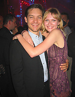 Toby McGuire & Kirsten Dunst.Spider Man Post Premiere Party.Wadsworth Theather Parking Lot.Brentwood, Los Angeles, CA.April 29, 2002.Photo By Antoine Desert/Celoebrityvibe.com..