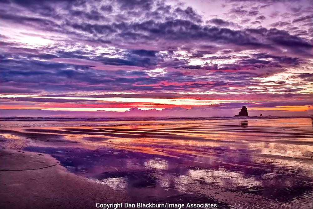 Sunset at Canon Beach Oregon