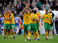 Carlisle - Saturday October 10th, 2009: Norwich City celebrate their win at the final whistle, led by Simon Lappin (C), during the Coca Cola League One match at Brunton Park, Carlisle. (Pic by Jed Wee/Focus Images)..