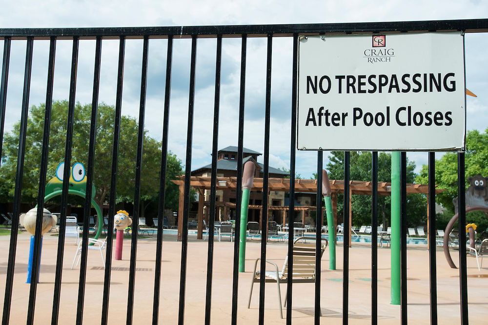 The Craig Ranch North community pool in McKinney, Texas on June 8, 2015.  (Cooper Neill for The New York Times)