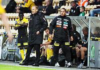 Fotball , 19. juni 2013 , NM , herrer , cupen , Lillestrøm - Bryne 2-0<br /> trener Magnus Haglund (tv) og ass. trener Magnus Powell , LSK