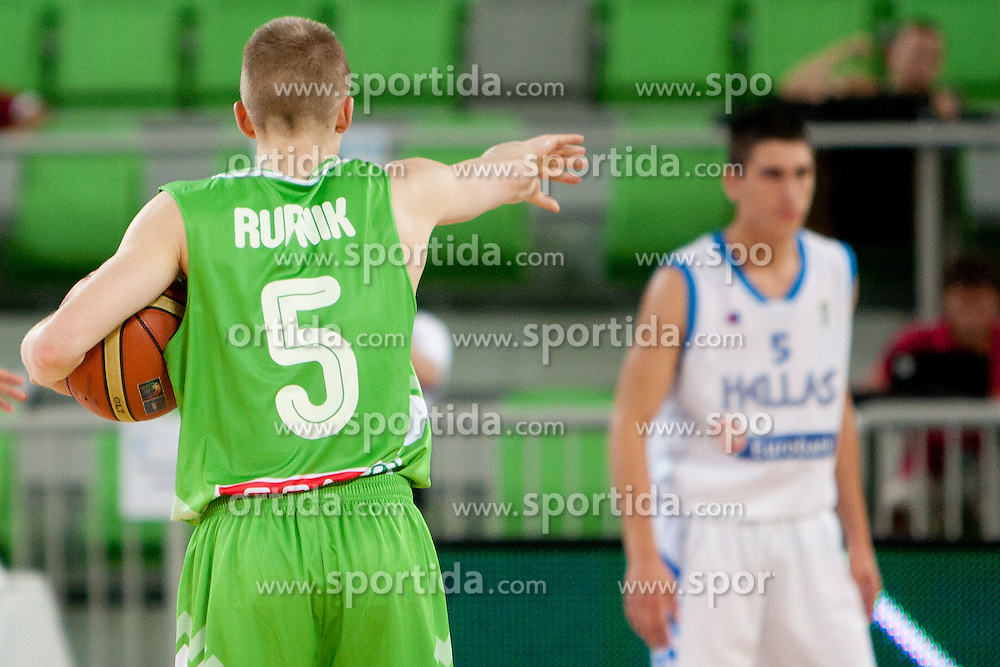 Luka Rupnik of Slovenia during basketball match between National teams of Greece and Slovenia in Placement match for 7th place of U20 Men European Championship Slovenia 2012, on July 22, 2012 in SRC Stozice, Ljubljana, Slovenia. (Photo by Urban Urbanc / Sportida.com)