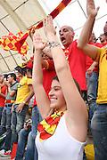 Foto di Donato Fasano .15  05  2011  Bari ( Italia ).Sport Calcio.AS Bari -  Us Lecce   TIM Serie A 2010  2011 - Stadio San Nicola Bari.Nella foto: tifosa leccese .