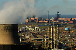 Wilton industry with gas fired power station on left; Teesside UK