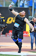 Curtis Jensen (USA) places ninth in the shot put at 65-1¼ (19.84m)during the 39th Golden Gala Pietro Menena in an IAAF Diamond League meet at Stadio Olimpico in Rome on Thursday, June 6, 2019. (Jiro Mochizuki/Image of Sport)