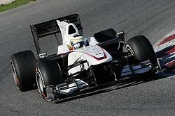 26.02.2010, Circuit de Catalunya, Barcelona, ESP, Formel 1 Tests, im Bild Pedro De La Rosa - Sauber F1 team, EXPA Pictures © 2010, PhotoCredit: EXPA/ InsideFoto/ Semedia / SPORTIDA PHOTO AGENCY