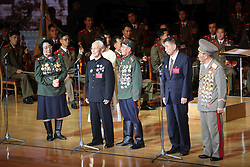 60243571  <br /> Chinese veterans Dai Shihui (2nd, R), Hou Jianye (2nd, L) attend the celebrating ceremony to mark the 60th anniversary of the Korean War Armistice Agreement in Pyongyang, the Democratic People s Republic of Korea (DPRK), <br /> Pyongyang, North Korea, <br /> Monday, July 29, 2013. <br /> Picture by imago / i-Images<br /> UK ONLY