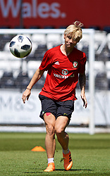 SWANSEA, WALES - Wednesday, June 6, 2018: Wales' Jessica Fishlock during a training session at the Liberty Stadium ahead of the FIFA Women's World Cup 2019 Qualifying Round Group 1 match against Bosnia and Herzegovina. (Pic by David Rawcliffe/Propaganda)
