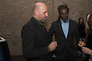 PETER DOIG; HURVIN ANDERSON , , Peter Doig  was the fourth artist to receive the  annual Art Icon award. Whitechapel Gallery. London.  26 january 2017
