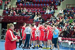 14.01.2011, Malmö Arena, SWE, IHF Handball Weltmeisterschaft 2011, Herren, Croatien vs Rumänien im Bild, // Croatia timeout // during the IHF 2011 World Men's Handball Championship match Croatia vs Romania at Malmo Arena. EXPA Pictures © 2011, PhotoCredit: EXPA/ Newspix/ Michael Buch +++++ ATTENTION - FOR AUSTRIA ONLY  +++++