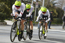 March 7, 2018 - Lido Di Camaiore, ITALY - Team Dimension Data riders pictured in action during the first stage of the 53rd edition of the Tirreno-Adriatico cycling race, a team time trial of 21,5km from and to Lido di Camaiore, Wednesday 07 March 2018, Italy. ..BELGA PHOTO YUZURU SUNADA (Credit Image: © Yuzuru Sunada/Belga via ZUMA Press)