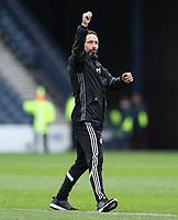 Football - 2016 / 2017 Scottish League Cup - Semi-Final - Greenock Morton vs. Aberdeen<br /> <br /> Aberdeen manager , Derek McInnes celebrates after the semi final at Hampden Park.<br /> <br /> COLORSPORT/LYNNE CAMERON
