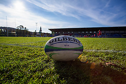 Ball  during rugby match between National team of Slovenia (green) and Serbia (red) at EUROPEAN NATIONS CUP 2012-2014 of C group 2nd division, on October 18, 2014, at ZAK Stadium, Ljubljana, Slovenia. (Photo by Matic Klansek Velej / Sportida.com)