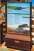 Interpretive sign at Bechers Bay, Santa Rosa Island, Channel Islands National Park, California USA