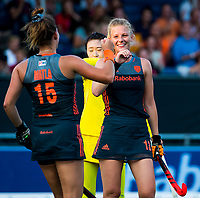 BREDA - Caia Van Maasakker (Ned)  heeft gescoord   tijdens Nederland-China bij de 4 Nations Trophy dames 2018 .     COPYRIGHT KOEN SUYK