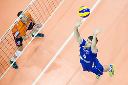 Uros Planinsic of Slovenia during volleyball match between national teams of Slovenia and Netherlands of 2018 CEV volleyball Godlen European League, on June 6, 2018 in Arena Bonifika, Koper, Slovenia. Photo by Urban Urbanc / Sportida