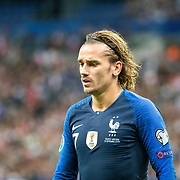 PARIS, FRANCE - September 10:   Antoine Griezmann #7 of France during the France V Andorra, UEFA European Championship 2020 Qualifying match at Stade de France on September 10th 2019 in Paris, France (Photo by Tim Clayton/Corbis via Getty Images)