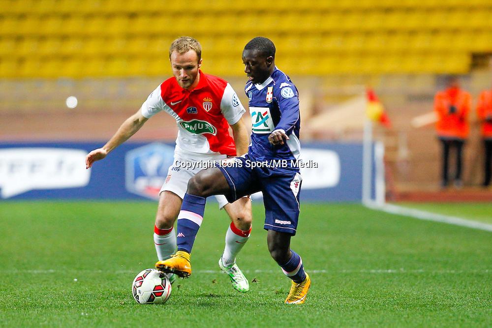 Valere Germain / Sabaly Youssouf  - 21.01.2015 - Monaco / Evian Thonon   - Coupe de France 2014/2015<br /> Photo : Sebastien Nogier / Icon Sport