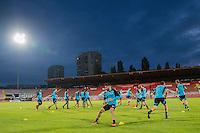 NOVI SAD - 17-08-2016, Vojvodina - AZ, Karadjordje Stadion, training, persconferentie, AZ speler Alireza Jahanbakhsh