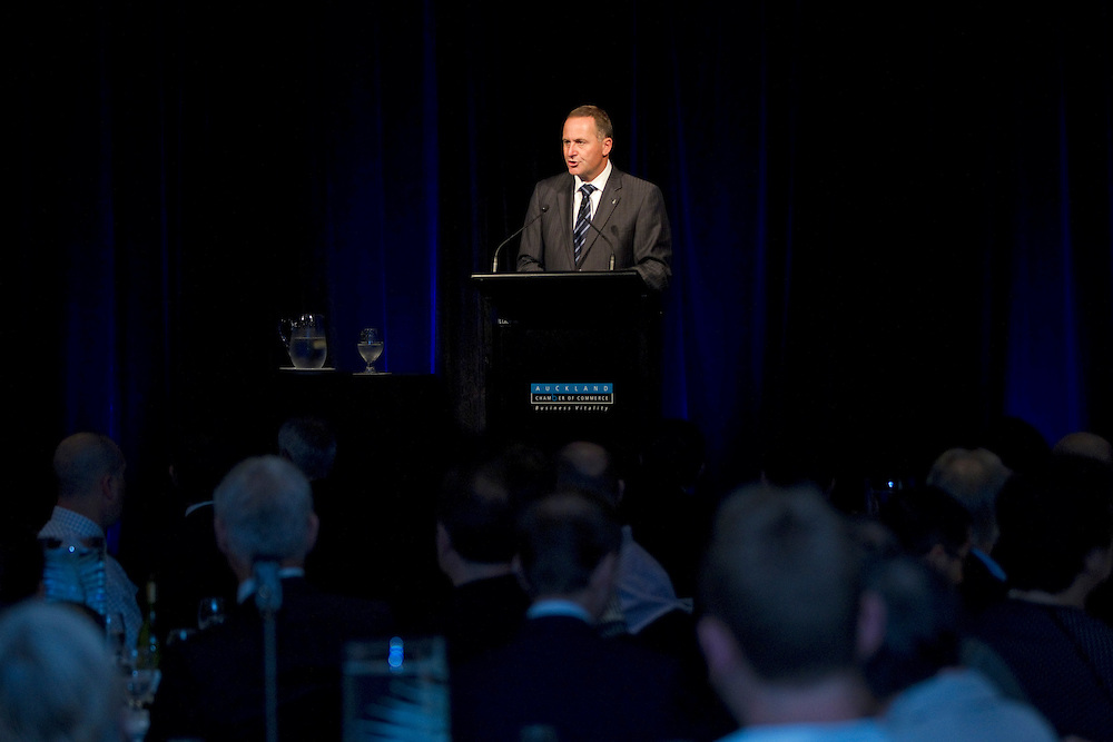 Prime Minister John Key makes a better public services speech to the Chamber of Commerce, Auckland, New Zealand, Thursday, March 15, 2012.  Credit:SNPA / David Rowland