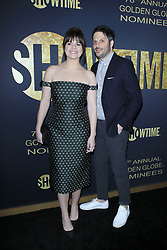 January 5, 2019 - West Hollywood, CA, USA - LOS ANGELES - JAN 5:  Casey Wilson, David Caspe at the Showtime Golden Globe Nominees Celebration at the Sunset Tower Hotel on January 5, 2019 in West Hollywood, CA (Credit Image: © Kay Blake/ZUMA Wire)