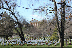 19.01.2016, Potomac River, Arlington, USA, Nationalfriedhof in Arlington, im Bild Nationalfriedhof in Arlington // a view of the Arlington National Cemetery Potomac River in Arlington, United States on 2016/01/19. EXPA Pictures © 2016, PhotoCredit: EXPA/ Eibner-Pressefoto/ Hundt<br /> <br /> *****ATTENTION - OUT of GER*****