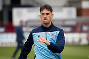 14th September 2019; Dens Park, Dundee, Scotland; Scottish Championship, Dundee Football Club versus Alloa Athletic; Shaun Byrne of Dundee during the warm up before the match