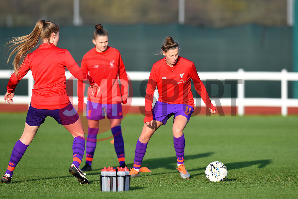 Yana Daniels of Liverpool Women warms-up prior to facing her former club in WSL1 - Mandatory by-line: Paul Knight/JMP - 17/11/2018 - FOOTBALL - Stoke Gifford Stadium - Bristol, England - Bristol City Women v Liverpool Women - FA Women's Super League 1