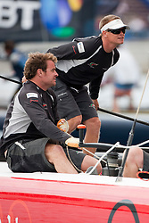 "© Sander van der Borch. Kiel - Germany, 27th of August 2009. iShares cup. Practice day...The first day of racing as part of the media day. the teams practice on the inland canal close to the city centre. The picture shows the Oman Sail extreme 40 ""Masirah""."