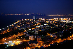 Haifa - May 5th,  2008 - A night view of Haifa, Northern israel, May 5th, 2008. Picture by Andrew Parsons / i-Images
