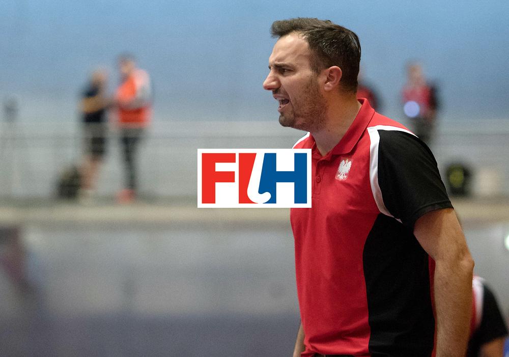 BERLIN - Indoor Hockey World Cup<br /> Belarus - Poland<br /> foto: RACHWALSKI Krzysztof<br /> WORLDSPORTPICS COPYRIGHT FRANK UIJLENBROEK